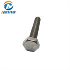 Factory Supplier Stainless Steel DIN933 Hex Bolt (SS304 SS316 316L)
