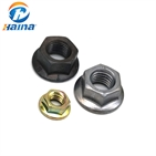 DIN6923 Carbon Steel Hex Flange Nuts With Various Surface Treatments